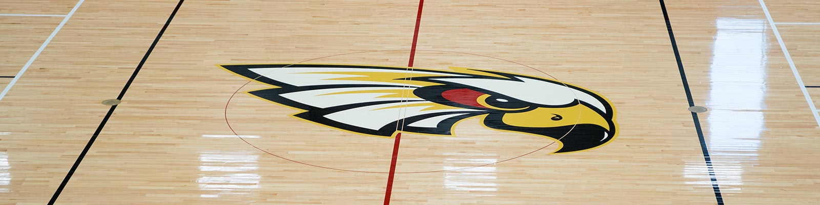 Kohawk logo on the gym floor