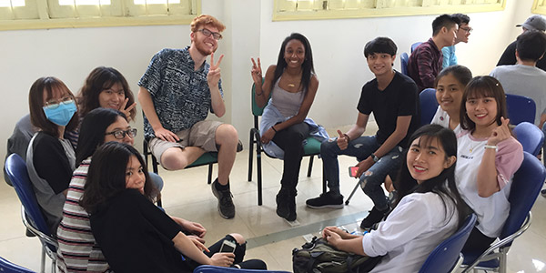Coe students teaching english while studying abroad