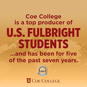 Coe continues to be recognized as a top producer of U.S. Fulbright students