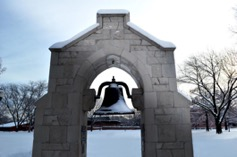 Victory Bell during winter