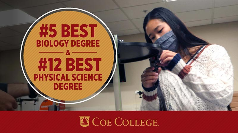 Number 5 best biology degree and number 12 best physical science degree