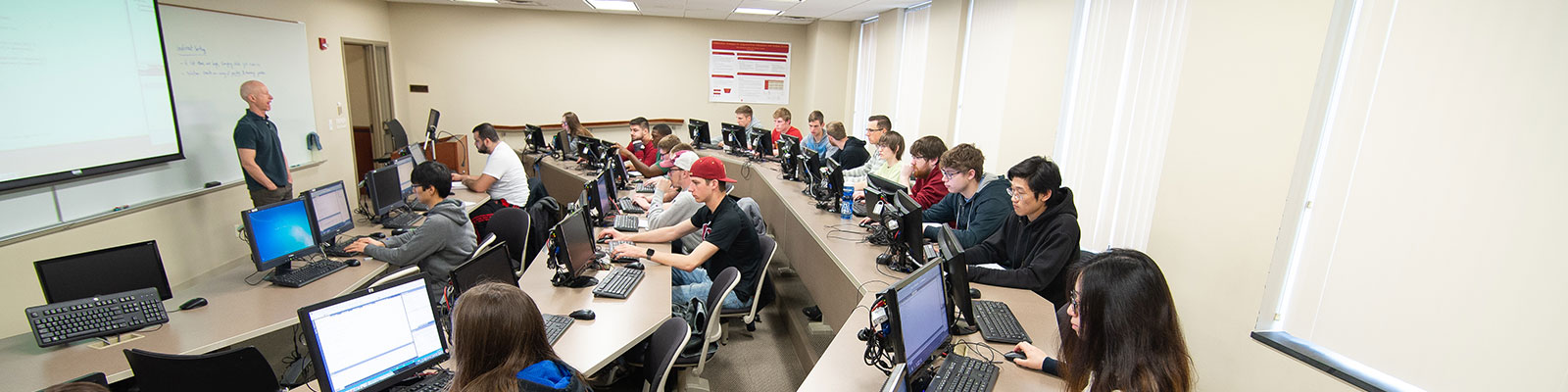 Class in a computer lab