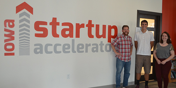 Three students at the Iowa Startup Accelerator