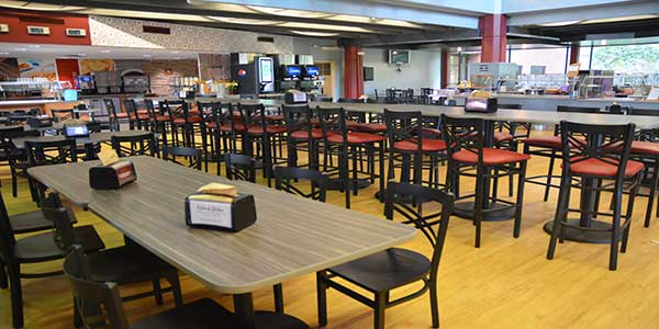 Photo inside the cafeteria