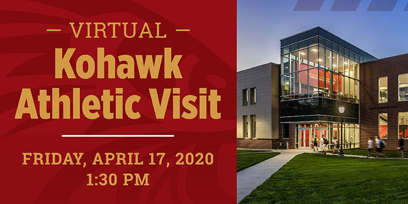 Graphic promoting Virtual Kohawk Athletic Visit Day on April 17