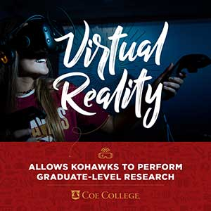 Virtual reality allows Kohawks to perform graduate-level research