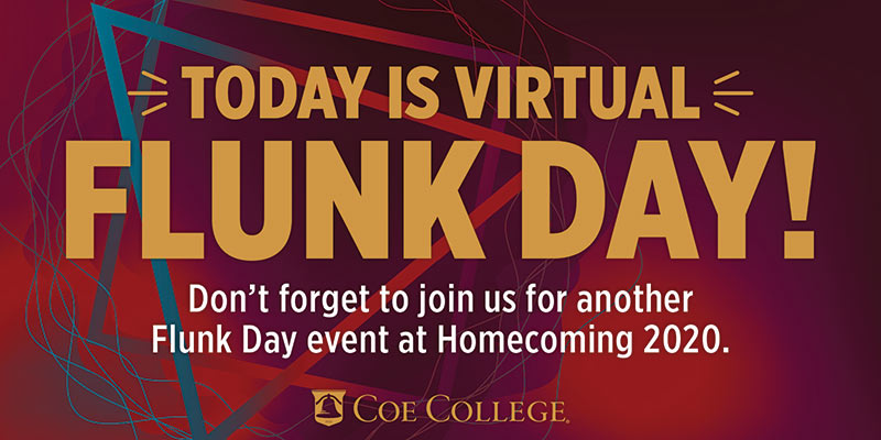 Graphic announcing Virtual Flunk Day