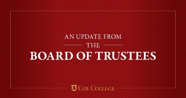 Coe Board of Trustees continues implementation of diversity, equity and inclusion resolution