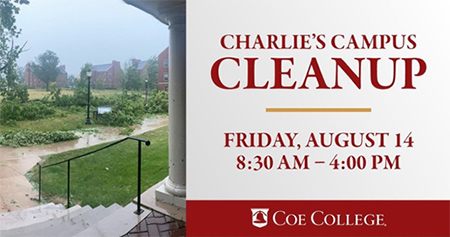 Charlie's Campus Cleanup, Friday, August 14, 8:30 AM - 4:00 PM