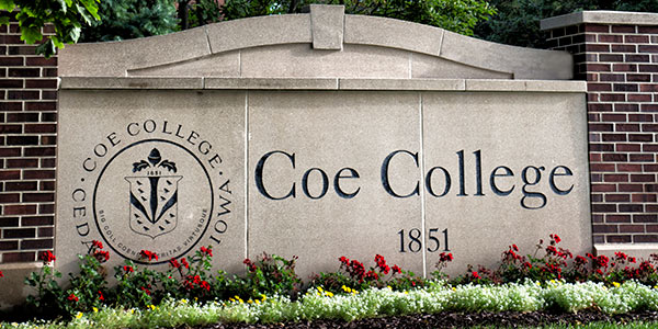 Coe College sign