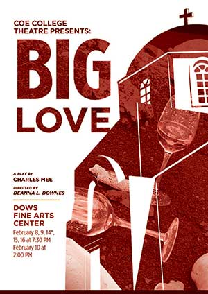 "Coe Theatre's ""Big Love"" delivers more than a simple love story"