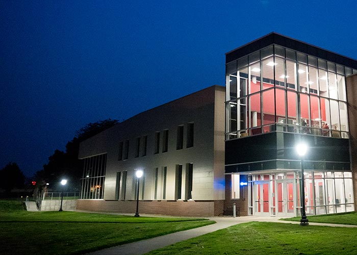 Athletic and Recreation Complex at night