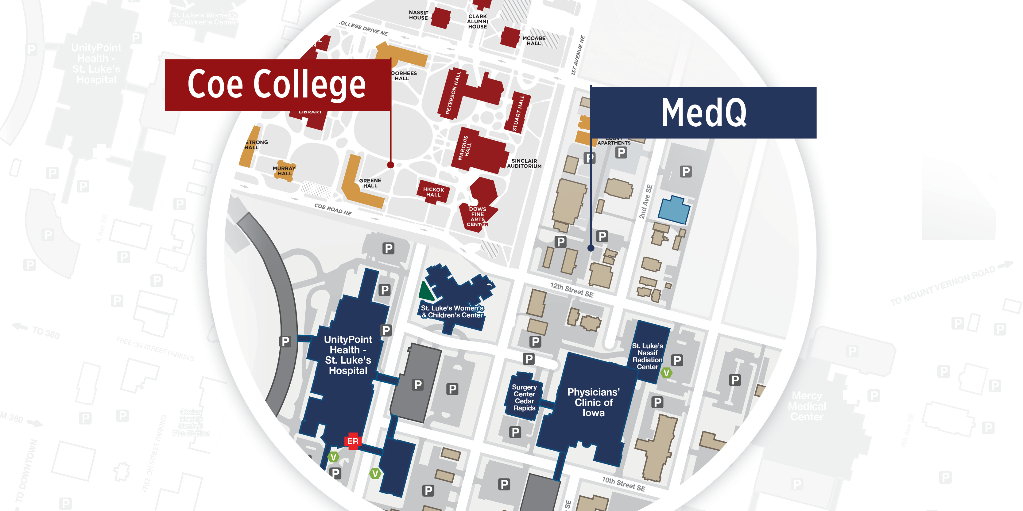 MedQ and Coe map