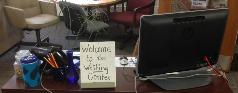 Writing Center Welcome Desk
