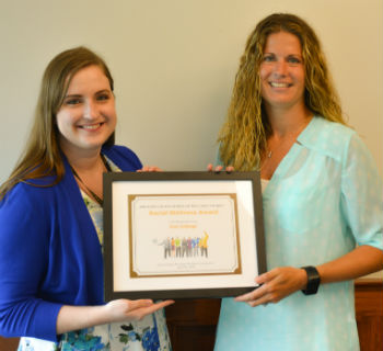 Social Wellness Award presented to Coe College