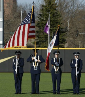 Air Force ROTC presenting the flag